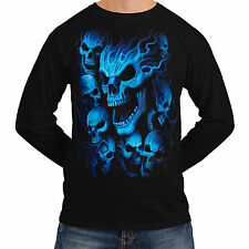 Skeleton Ghost Skull New Mens Women Long Sleeve T-Shirt Gothic Reaper *sh219