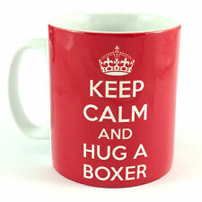 NEW KEEP CALM AND HUG A BOXER GIFT MUG CUP PUPPY DOG BREED CARRY ON