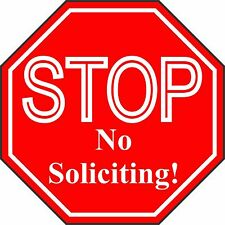 "No Soliciting Sign - Engraved ""STOP No Soliciting"" Sign - FREE SHIPPING"