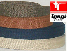 Strong Reinforced 25mm Cotton Color Webbing Bag Canvas Strapping Belting Handles