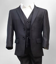 Boys Dark Grey Suit Italian Cut Page Boy Suits Wedding Prom Dinner AGE 1 TO 15