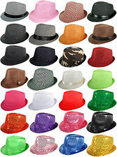 Men Women Unisex Fedora Hat Trilby Cuban Panama Style Upturn Short Brim Cap Hat