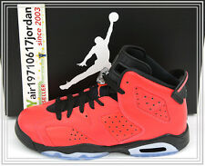 2014 Nike Air Jordan 6 VI GS Infrared Red Black TORO Bravo 384665-623 US 6Y Boys
