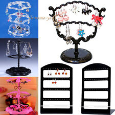 New Retro Vintage Earrings Display Rack Stand Organizer Jewelry Holder Display