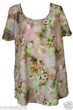 Floral Casual Tunic Top Plus Sizes 16 to 32