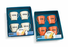 Set of 4 Egg Cup Buckets Metal New Boxed by Eddingtons