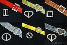 Selections of Metallic Ribbon Buckle Sliders with Rhinestones - Gift Wrapping