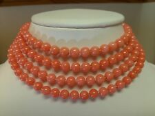 "45"", 48"", 55"", 60"", & 100"" - 6-7mm PINK CORAL NECKLACE!! - GATSBY, FLAPPER!!"
