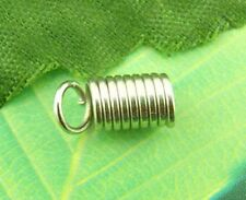 Wholesale HOT! Jewelry Silver Tone Coil End Crimp Fasteners 5x10mm
