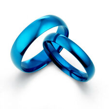 His and Her Matching Blue Wedding Rings 081A3