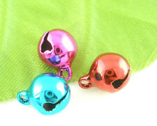 Wholesale HOT! Jewelry Mixed Christmas Bell Charms Pendants 8mm Dia.