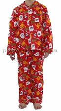 Boys Winter Cotton Flannel 2pc Pyjamas Pjs Red Moshi Monsters sz 3,4,5,6,7,8