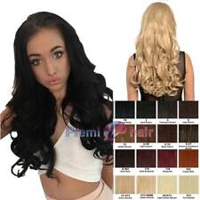 Long loose curls half wig synthetic hair fall hairpiece Curly Various colours