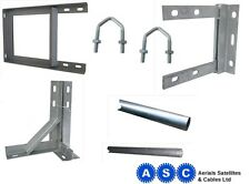 "TV AERIAL FREEVIEW WALL BRACKET 6"" 9"" 12"" 18"" 24"" T and K BRACKETS GALVANISED"