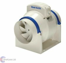 """Vent Axia ACM100 ACM150 InLine Mixed Flow Bathroom Extractor Fan Timer Std 4"""" 6"""""""