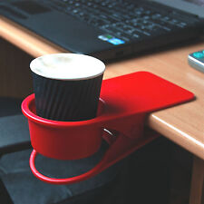 Cup holder coffee drinks Drinklip Uni DR001 clip to work desk table stop spills