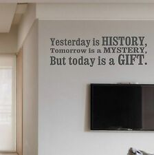 Gift Wall Sticker Quote Saying Art Vinyl Bedroom Decal Decor Mural motivational