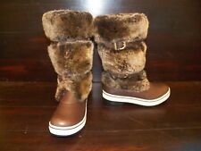 New Womens UGG Lilyan Stout Brown Sheepskin Tall WinterSnow FUR Boots