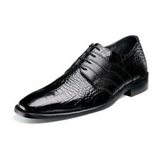 NEW STACY ADAMS GABINO MENS DRESS SHOES CROCODILE PRINT LEATHER BLACK 24873-001