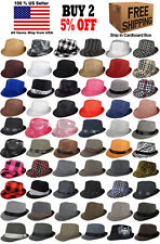 Men Women Unisex Fedora Hat Trilby Cuban Style Upturn Short Brim Cap Hat Panama