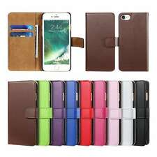 Genuine Leather Flip Case Cover Card Slot Stand Wallet Magnetic For iPhone 5 5s