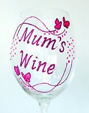 Personalised Mother's Day Gifts - Glitter Butterfly Wine Champagne Glass for Mum
