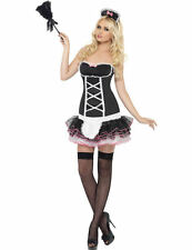 Ladies Sexy Naughty French Maid Hen Party Outfit Fancy Dress Costume