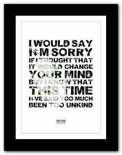 ❤ THE CURE Boys Don't Cry  ❤ song lyrics typography poster art print - A1 A2 A3