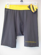 """The Nike men's Livestrong Pro Combat 6"""" Compression Shorts Sliders 450837 060"""
