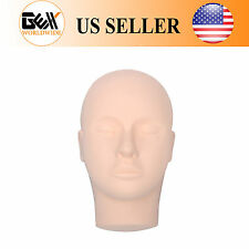 Rubber Practice Mannequin Manikin Head Eyelashes Makeup Massage Practice