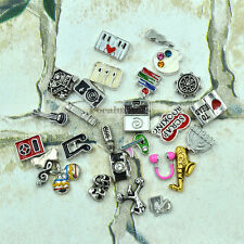 Alloy NEW Hobbies Interests Mini Floating Charms for Glass Living Memory Lockets