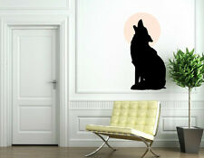 Wolf Howling at the Moon. Wall Sticker & Wall Decal. Many colours. 70cm x 140cm