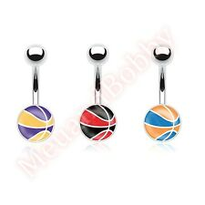 Basket Ball Belly Button Bar Navel Ring Body Piercing Jewellery
