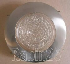 """6"""" RECESSED CAN LIGHT SATIN NICKEL SILVER SHOWER TRIM CLEAR / MILKY FROSTED LENS"""