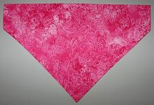 Butterflies Flowers Pink Dog Bandana Scarf-Slide over Collar-Sz Small to XLarge