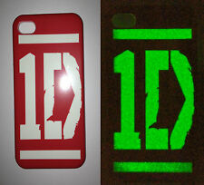 ONE DIRECTION 1D glow in the dark phone case for iPhone 4 4S,5,5C,Samsung S3 S4