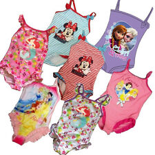 Girls Disney Minnie Mouse Tinkerbell Fairies Princess Swimsuit Swimming Costume