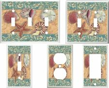 SEASHELLS & STARFISH   IMAGE 1 LIGHT SWITCH OR OUTLET COVERS MULTI SIZES