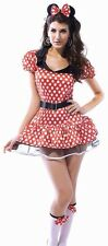 SEXY MINNIE MICKEY MOUSE FAIRY TALE HALLOWEEN FANCY DRESS COSTUME Free Post