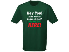 "Custom Printed Personalised ""YOUR TEXT"" Mens T-Shirt (12 Colours)"