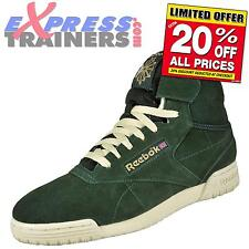 Reebok Classic Mens Ex-O-Fit Clean Hi Vintage Velcro Trainers Green *AUTHENTIC*