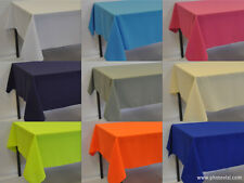 Square  Polyester Fabric Tablecloth  (over locked using quality cotton thread)