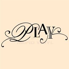 PLAY CHILDS ROOM Wall Decal Wall Sticker Childs Bedroom Wall Art Decal Sign Wall