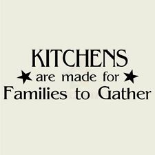 KITCHENS ARE MADE FOR FAMILIES TO Wall Decal Wall Sticker Home Family Wall Art