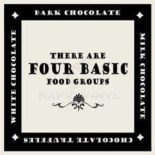 THERE ARE FOUR BASIC FOOD GROUPS Wall Decal Wall Sticker Home Family Wall Art