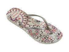 Havaianas Women`s Flip Flops Slim Thematic White Sexy Sandals Sizes 5-12 NWT