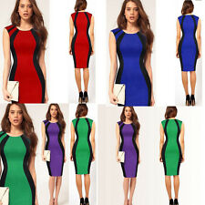 Lady Women's Sleeveless Slim Bodycon Dress Cocktail Party Evening Pencil Dress