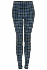 Topshop Denim Multi Check Maternity Leggings