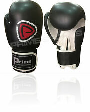 NEW MACHINE MOULDED FOAM BOXING GLOVES FIGHT PUNCH BLACK REX LEATHER BAG - 1001