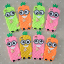 3D Cute Big Eyes Pineapple Soft Silicone Case Cover For Apple iPhone 4 4S 5 5S